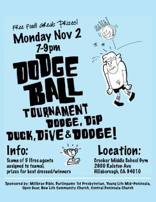 Dodgeball TournamentDodgeball Tournament Poster